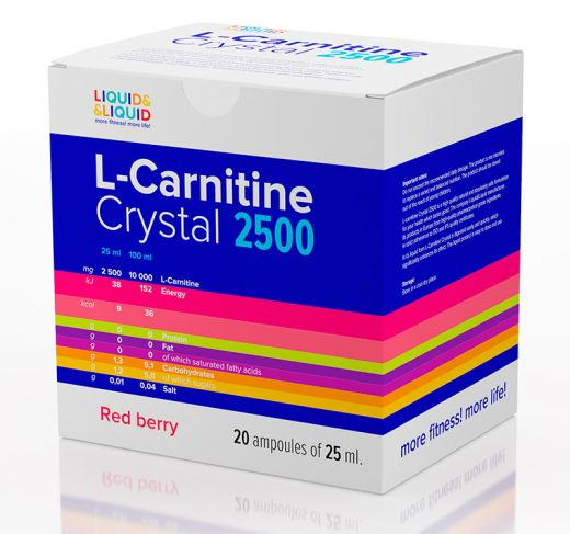 L-Carnitine Crystal 2500 (20 х 25 мл.)